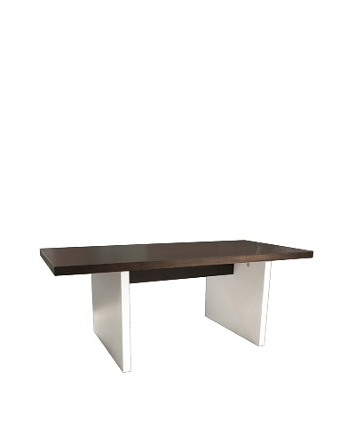 Star International Calvin Dining Table, Dark Walnut/White