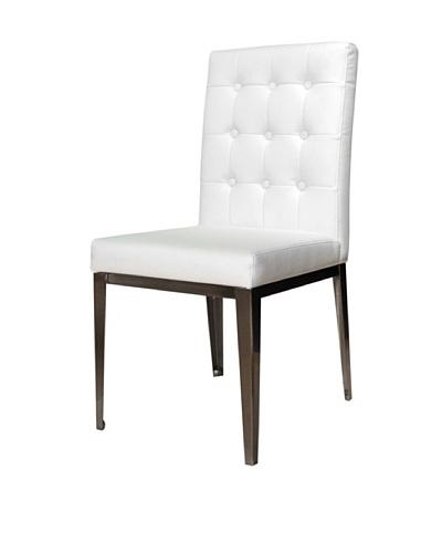 Star International Set of 2 Salon Dining Chairs, White