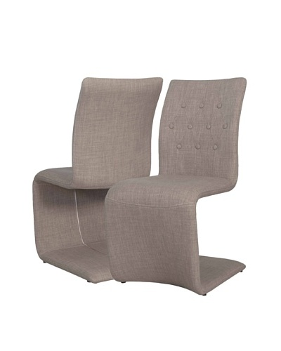 Star International Set of 2 Forma Dining Chairs, Grey/White