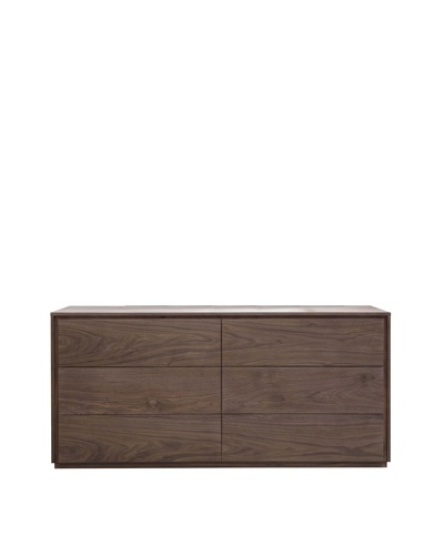 Star International Latitude Dresser, Natural Walnut