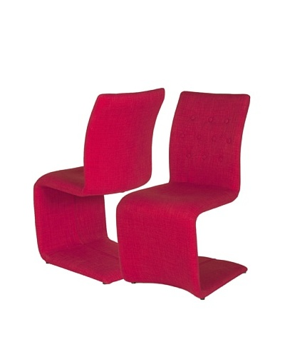 Star International Set of 2 Forma Dining Chairs, Red