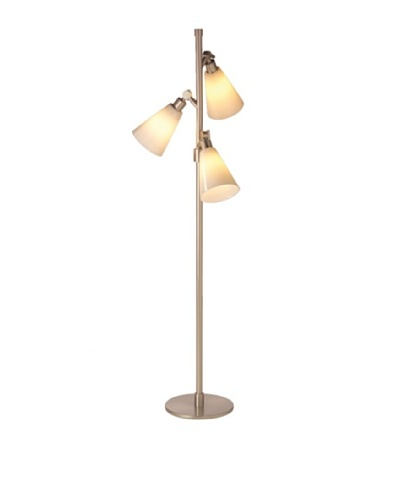 State Street Lighting Triple-Light Floor Lamp [Satin Nickel]