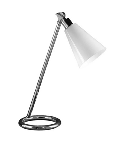 State Street Lighting Torchiere/Bridge Table Lamp, Polished Nickel