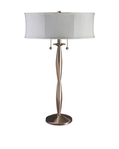 State Street Lighting Sculpted Stick Table Lamp, Satin Nickel
