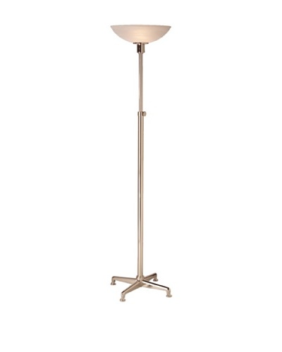State Street Lighting Adjustable-Height Torchiere [Polished Nickel]