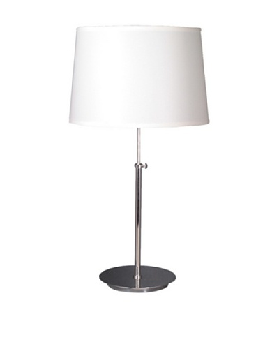 State Street Lighting Adjustable-Height Table Lamp, Chrome