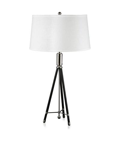 State Street Lighting Tripod Table Lamp, Black
