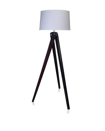 State Street Lighting Tripod Floor Lamp, Espresso