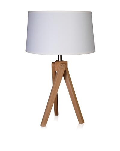 State Street Lighting Tripod Table Lamp, Alder Wood