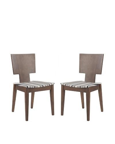 Safavieh Set of 2 Rick Side Chairs, Stripe