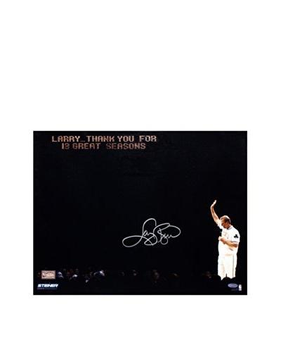 Steiner Sports Memorabilia Larry Bird Retirement Wave Spotlight Signed Photo