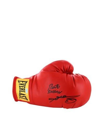 Steiner Sports Memorabilia Roberto Duran & Sugar Ray Leonard Dual Signed Red Boxing Glove