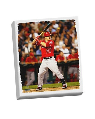 Steiner Sports Memorabilia Mike Trout Stretched Canvas