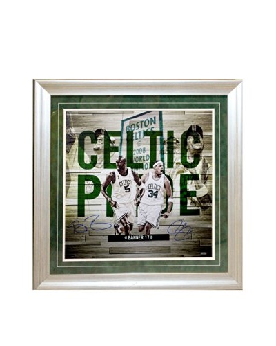 Steiner Sports Memorabilia Paul Pierce & Kevin Garnett Dual Signed Celtic Pride Framed Collage