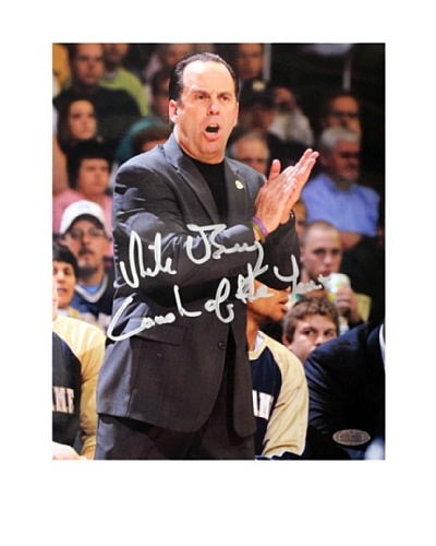 """Steiner Sports Memorabilia Mike Brey Yelling On The Sidelines """"Coach of the Year"""" Signed P..."""