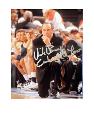 Steiner Sports Memorabilia Mike Brey On The Sidelines Coach of the Year 2011 Signed Photo