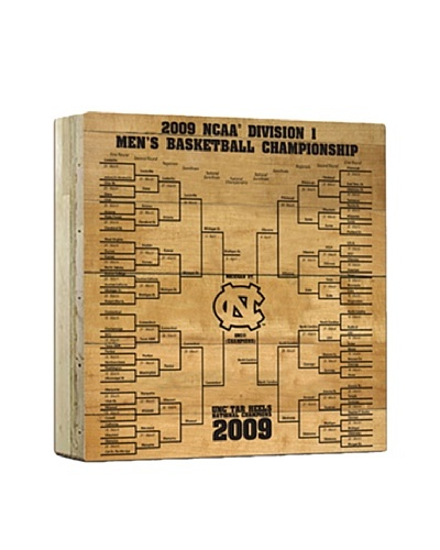 Steiner Sports Memorabilia UNC 2009 Basketball Court Engraved Bracket