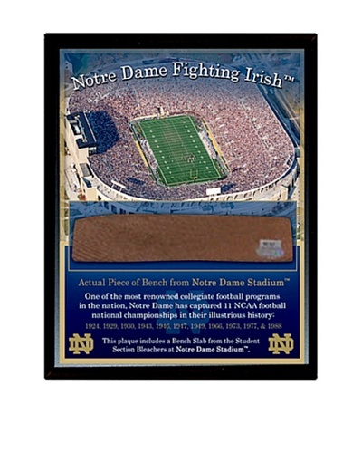 Steiner Sports Memorabilia Notre Dame Game Used Bench Slab Plaque with Stadium Image