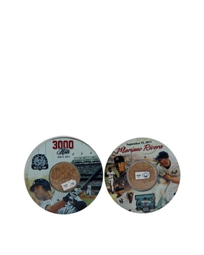 Steiner Sports Memorabilia Derek Jeter & Mariano Rivera 2011 Moments Coaster Set