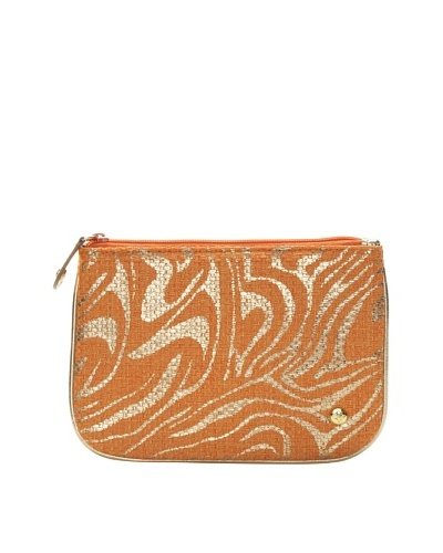 Stephanie Johnson Palm Desert Orange Medium Flat Pouch