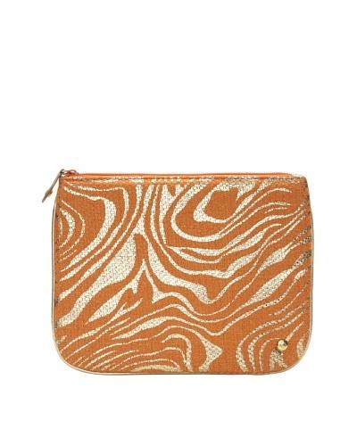 Stephanie Johnson Palm Desert Orange Large Flat Pouch