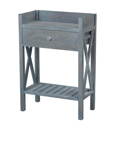 Sterling Biscayne Side Table, Blue Wash