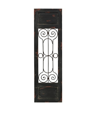 Sterling Hopkinton Wall Décor, Distressed Black/Rust