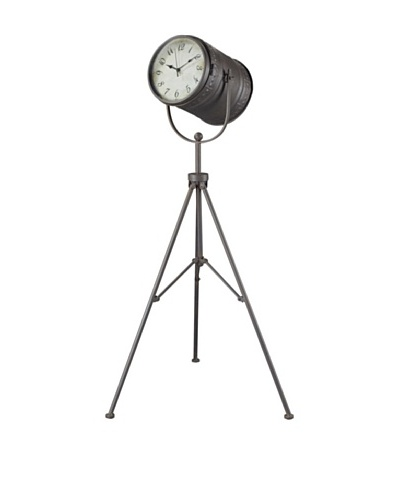 Sterling Fallon Standing Clock, Antique Pewter