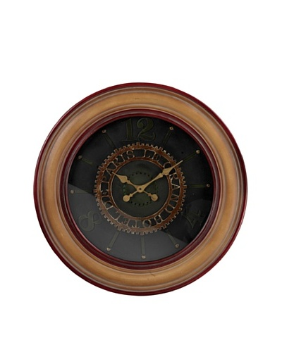 Sterling Le Grande Hotel de Paris Clock, Gold/Maroon/Black