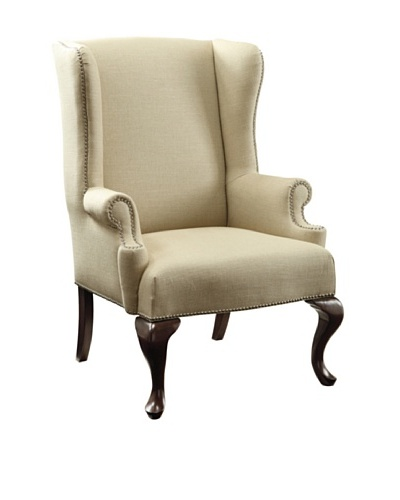 Sterling Home Edmond Chair, Cream/Brown