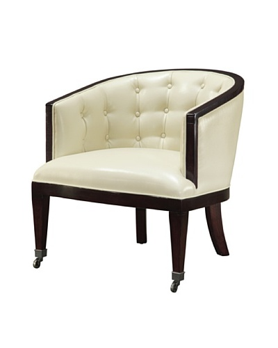 Sterling Home Holguin Chair, Off-White/Brown