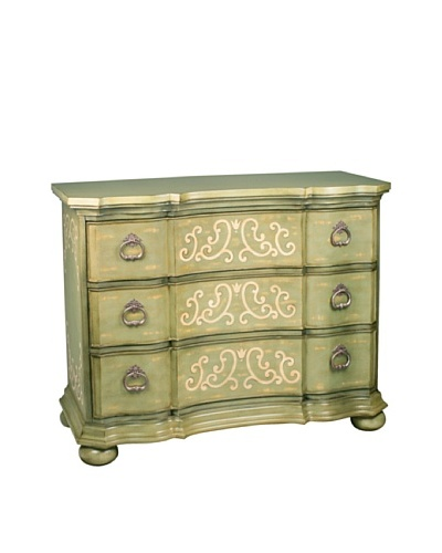 Sterling Home Argent Scroll Chest, Green/Cream