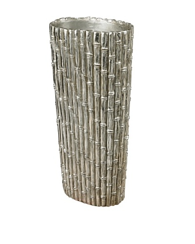 Sterling Home 25 Bamboo Floor-Standing Vase, Silver