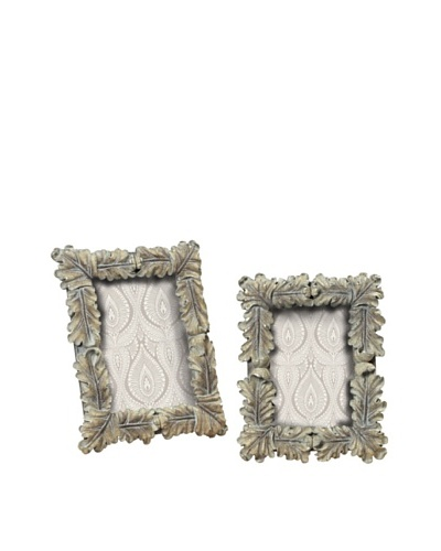 Sterling Home Pair of Florentine Scroll Picture Frames, Imperial Silver