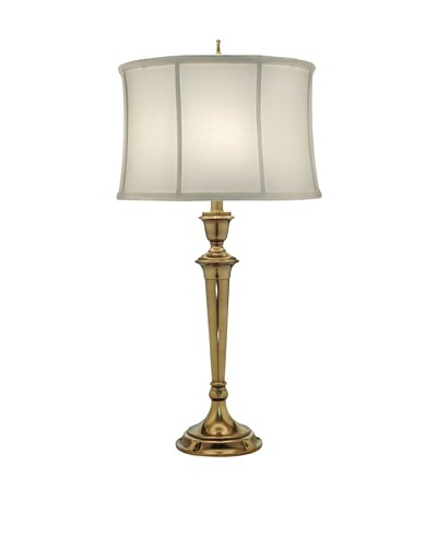 Stiffel Lighting Burnished Brass Fluted Table Lamp