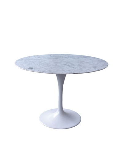 Stilnovo 42 Marble Tulip Dining Table, White