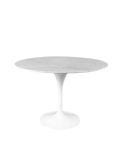 """Stilnovo 60"""" Marble Tulip Dining Table, White"""
