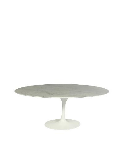 Stilnovo 60 Oval Marble Tulip Dining Table, White