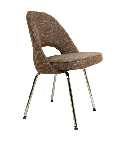 Stilnovo The Johnson Side Chair, Brown/Chrome