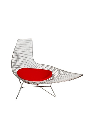 Stilnovo Joan Chaise in Stainless Steel with Seat Pad