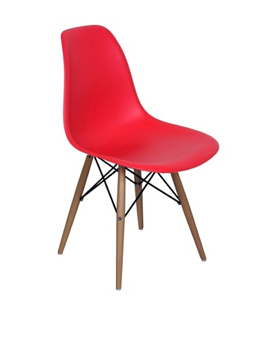 Stilnovo Mid-Century Eiffel Dining Chair, Red
