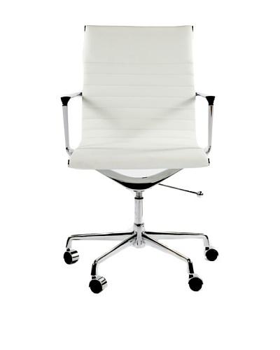 Stilnovo Mid Century-Style Genuine Leather Executive Office Chair