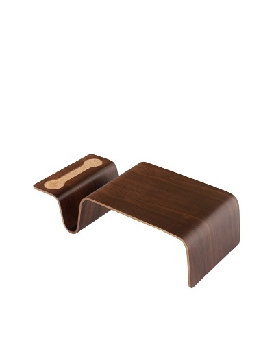 Stilnovo Ville Side Table, Walnut