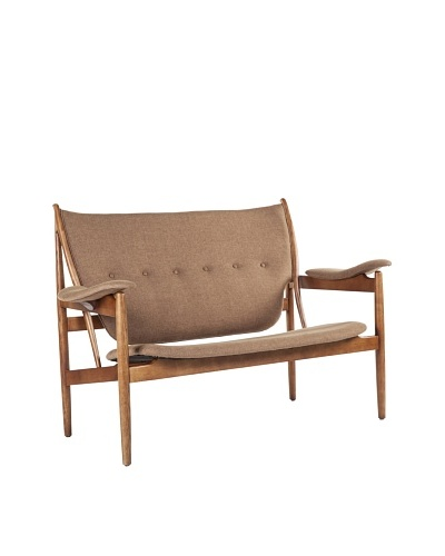 Stilnovo The Sterling 2-Seat Lounge Chair, Brown