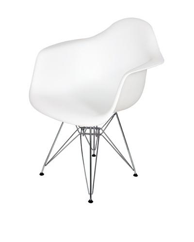 Stilnovo Mid-Century Eiffel Dining Arm Chair, White
