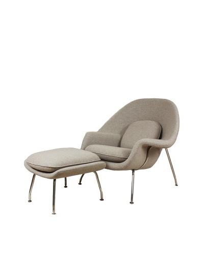 Stilnovo Womb Chair with Ottoman, Wheat