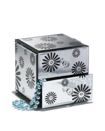 Allure Daisy Jewelry Box with 2 Drawers