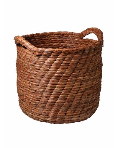 Studio A Cylindrical Pine Needle Basket, Brown