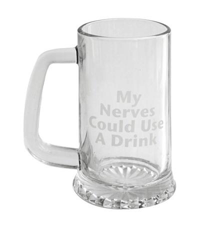 "Style Setter 23-Oz. ""My Nerves Could Use A Drink"" Beer Mug"