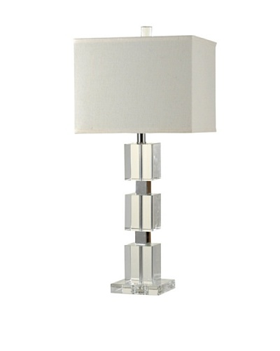 StyleCraft Crystal Table Lamp, Clear